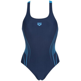 arena Fairness Swim Pro Back One Piece Badpak Dames, navy/turquoise